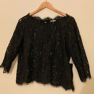 Joie Evie Scalloped Lace Top